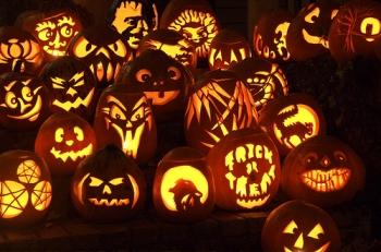 Pumpkins carved