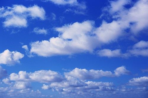 White Clouds in Blue Sky ca. 1996