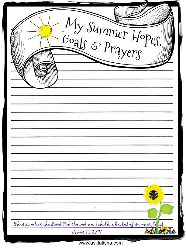 Summer Hopes,Goals & Prayers
